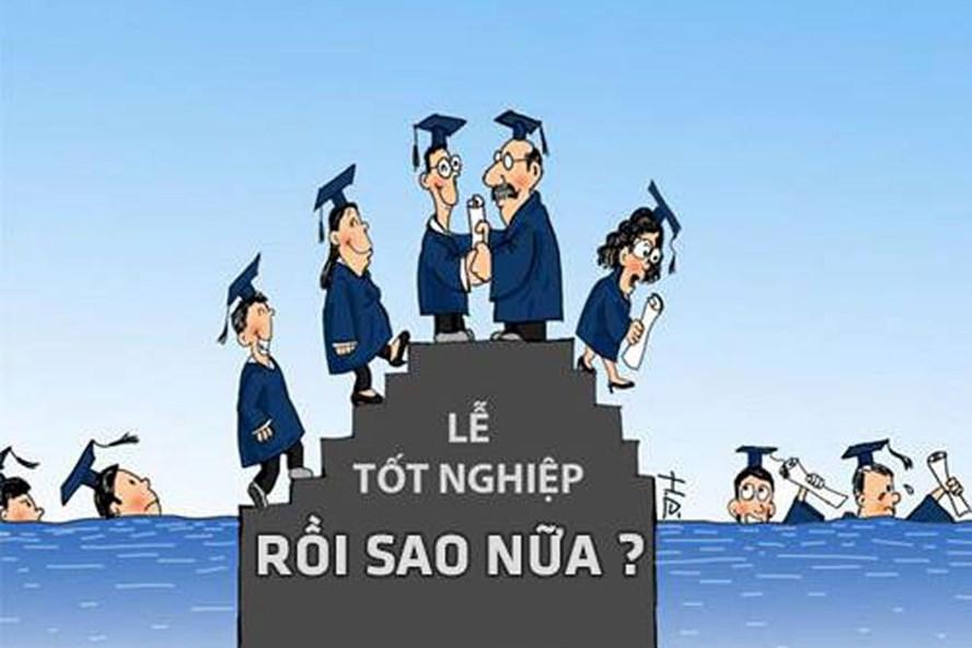 Rất nhiều sinh viên có bằng cấp, điểm số rất đẹp nhưng thất nghiệp vì không đáp ứng yêu cầu thực tiễn. Ảnh minh họa, nguồn: giaoduc.net.