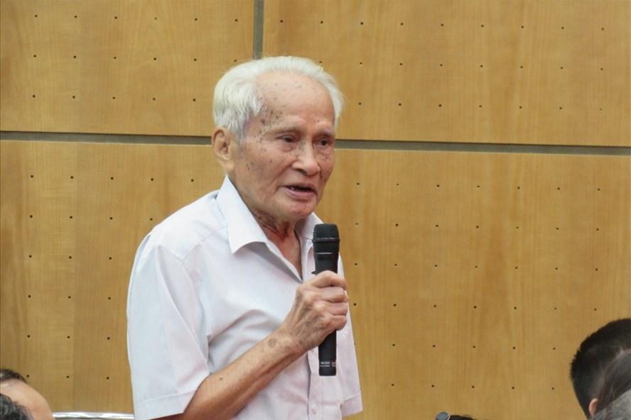 Cử tri phường Vĩnh Phúc, Ba Đình - Trung tướng Nguyễn Quốc Thước. Ảnh: XH.