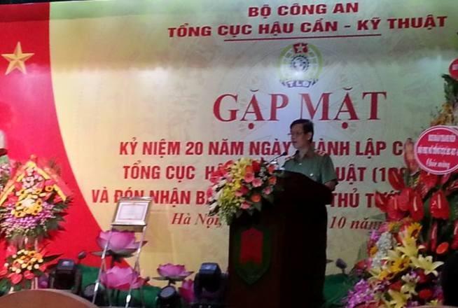 Trung tướng Lê Văn Minh phát biểu chỉ đạo tại buổi lễ. Ảnh: VN