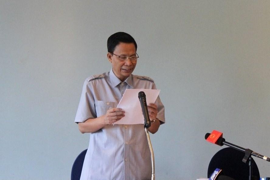 Ông Nguyễn Minh Mẫn, Quyền Vụ trưởng Vụ 3, Tổng Thanh tra Chính phủ tại buổi họp báo ngày 15.10. Ảnh: LH