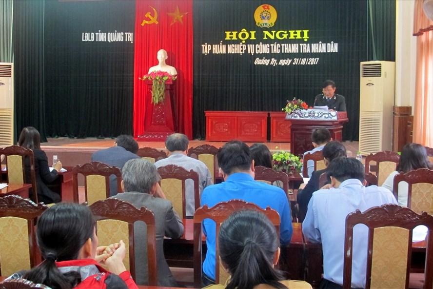 Hội nghị tập huấn nghiệp vụ về tổ chức và hoạt động của Ban Thanh tra nhân dân. Ảnh: HT.