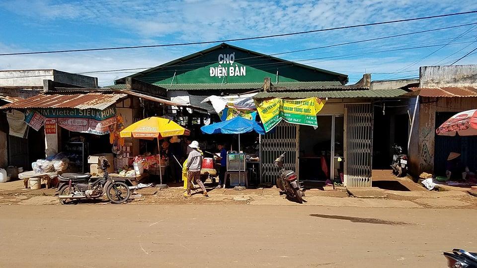 Chợ Điện Bàn - địa điểm xuất hiện trong video được chia sẻ trên mạng xã hội trước đó. Ảnh: H.L
