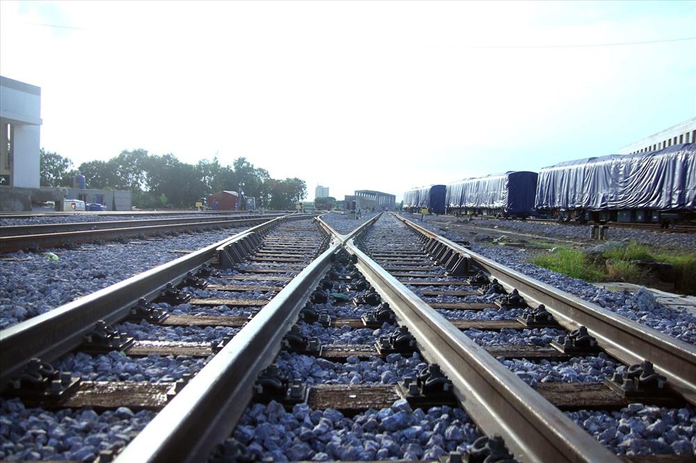 Hệ thống đường ray tại khu Depot Hà Đông.