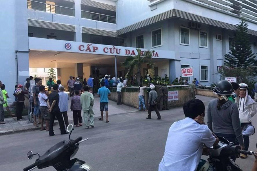 Bệnh viện Đa khoa Quảng Ngãi - nơi xảy ra vụ việc. Ảnh: FB