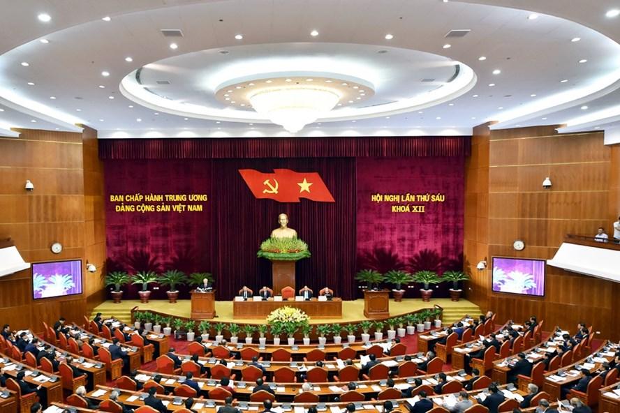 Hội nghị Trung ương 6 khóa XII đang diễn ra tại Hà Nội. Ảnh: NB.