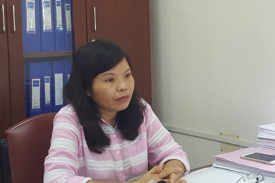 Phó Giám đốc Sở Xây dựng tỉnh Hòa Bình trả lời phỏng vấn Báo Lao Động. Ảnh: P.V