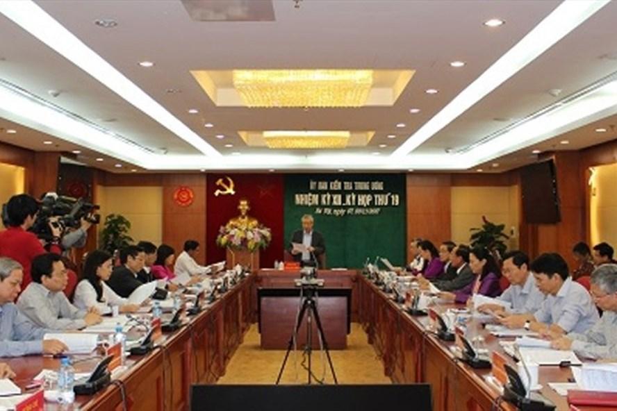 Ủy ban Kiểm tra Trung ương  họp kỳ 19 (Ảnh: UBKTTW)
