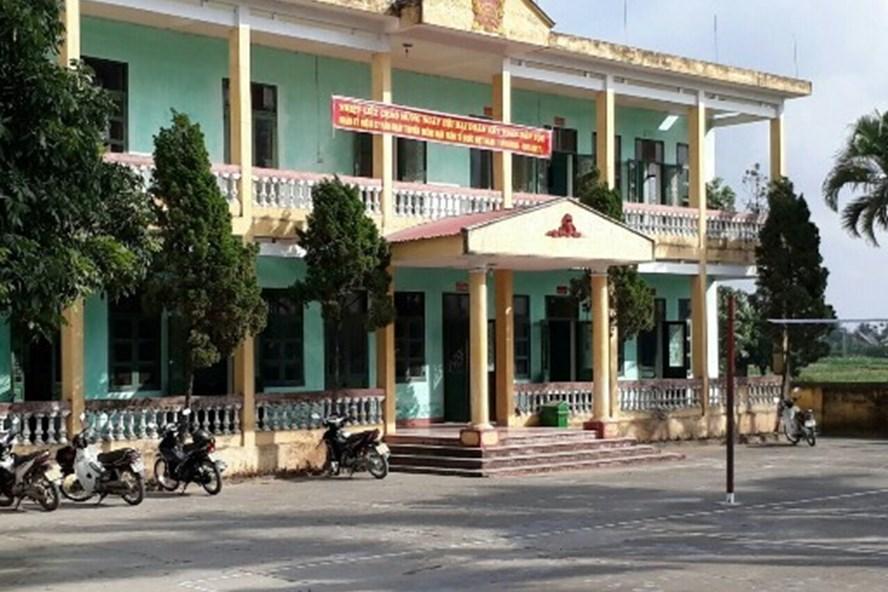 UBND xã Thắng Thủy (huyện Vĩnh Bảo) - nơi ông Phạm Văn Tốt xin từ chức. Ảnh CTV