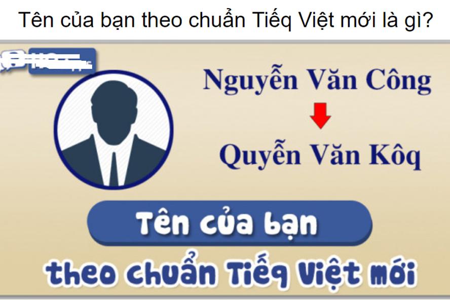 """Xuất hiện nhiều bộ chuyển đổi tiếng Việt """"ăn theo"""" đề xuất cải tiến chữ viết của PGS-TS Bùi Hiền."""
