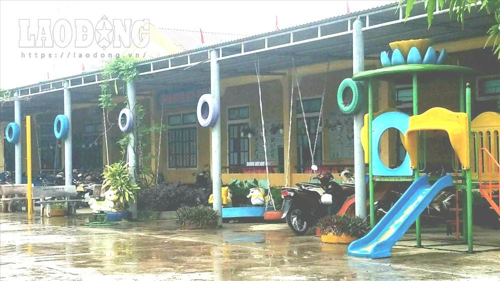 Khuôn viên Trường Mầm non phường Quảng Thọ. Ảnh: Lê Phi Long