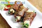 Trưa nay ăn gì: Bò cuộn phô mai chiên xù