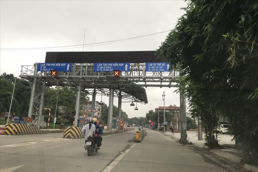 Tỉnh Thái Nguyên vừa đề xuất dỡ trạm thu phí Bờ Đậu tại Km77+922,5 QL3. Ảnh: L.A