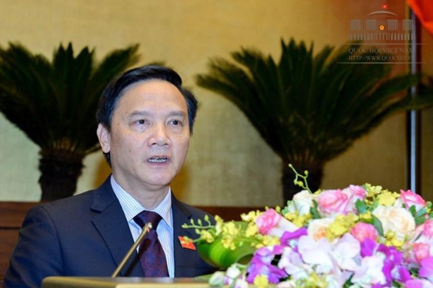Chủ nhiệm Ủy ban pháp luật của Quốc hội Nguyễn Khắc Định (Ảnh: QH)