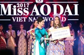 Người đẹp Lê Ngọc Diệp bất ngờ đăng quang Hoa hậu Nhân Ái