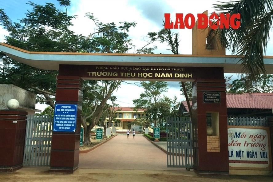 Trường Tiểu học Nam Dinh - nơi phát hiện tình trạng lạm thu. Ảnh: Lê Phi Long