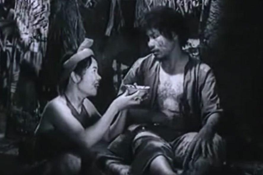 Hình ảnh Chí Phèo - Thị Nở trong phim.