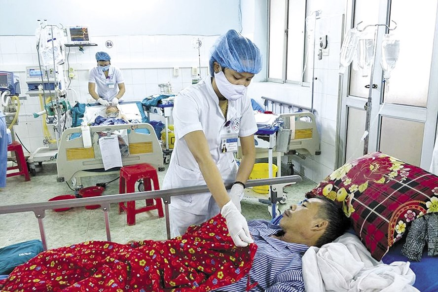 Bệnh nhân L.D.P ở Tuyên Quang được chăm sóc sau ca ngộ độc mật cá trắm.