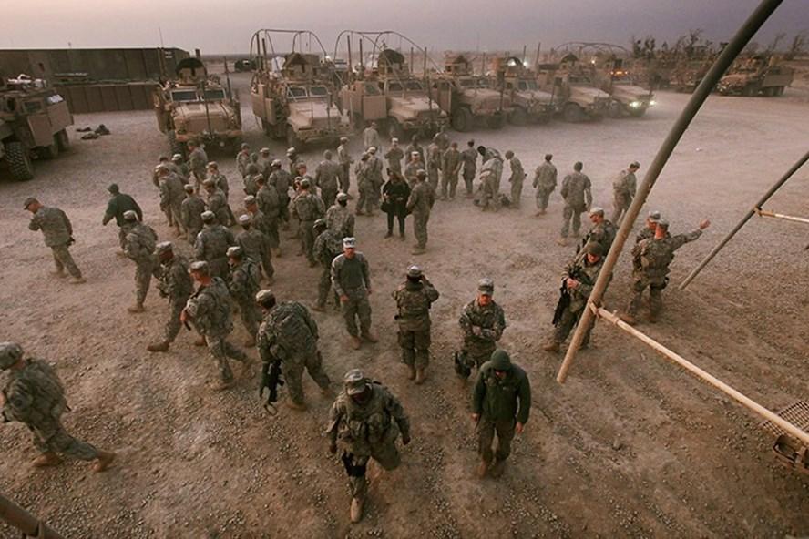 Lính Mỹ ở Iraq có thể trở thành mục tiêu tấn công sau quyết định của ông Donald Trump về Jerusalem. Ảnh: Reuters