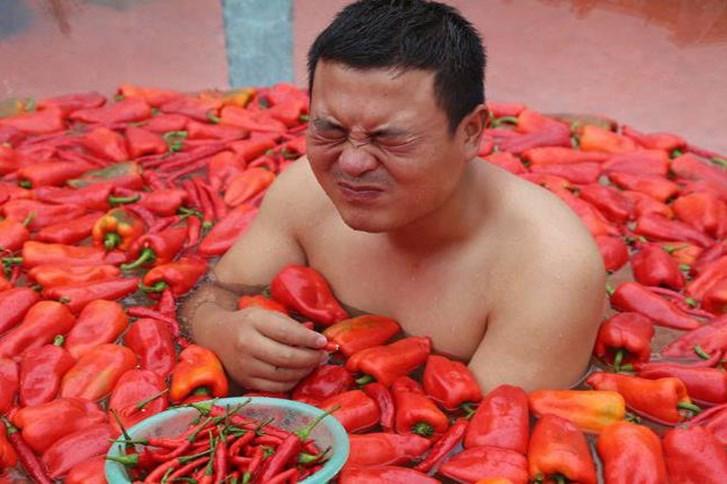 Một cuộc thi để chọn ra 'Vua ớt' vừa được tổ chức tại Ninh Hương, tỉnh Hồ Nam, Trung Quốc. (Nguồn: shanghaiist.com)