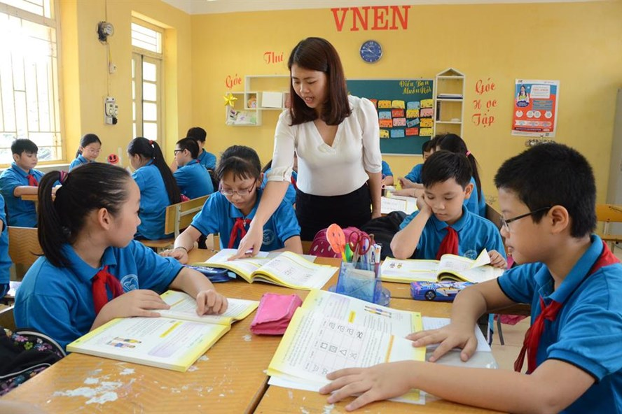Mô hình trường học mới Việt Nam (VNEN) là một thí điểm vận dụng mô hình trường học kiểu mới của Colombia nhằm đổi mới giáo dục phổ thông. Ảnh: Huyên Nguyễn