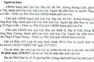 Ngày mai, xét xử vụ người dân kiện Chủ tịch tỉnh Lào Cai