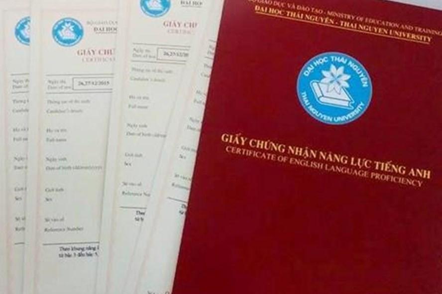 Bộ GDĐT yêu cầu tạm dừng cấp chứng chỉ năng lực ngoại ngữ ngoài nhà trường trừ giáo viên dạy ngoại ngữ. (ảnh minh họa: Duy Anh)