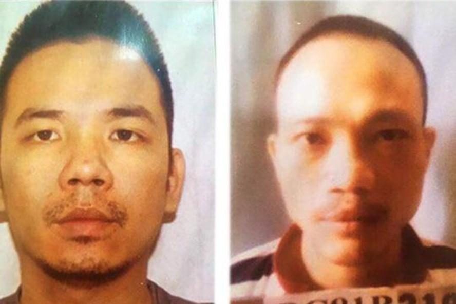 Hai tử tù vừa trốn thoát khỏi trại giam T16 Bộ Công an (Ảnh Công an cung cấp)