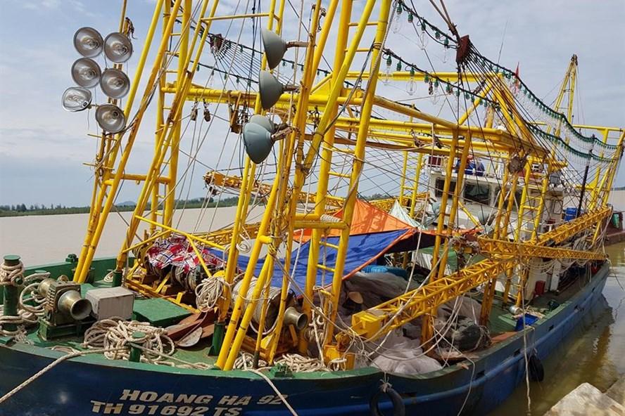 Tàu cá 67 neo đậu tại cảng Hới, Sầm Sơn, Thanh Hoá. Ảnh: X.H