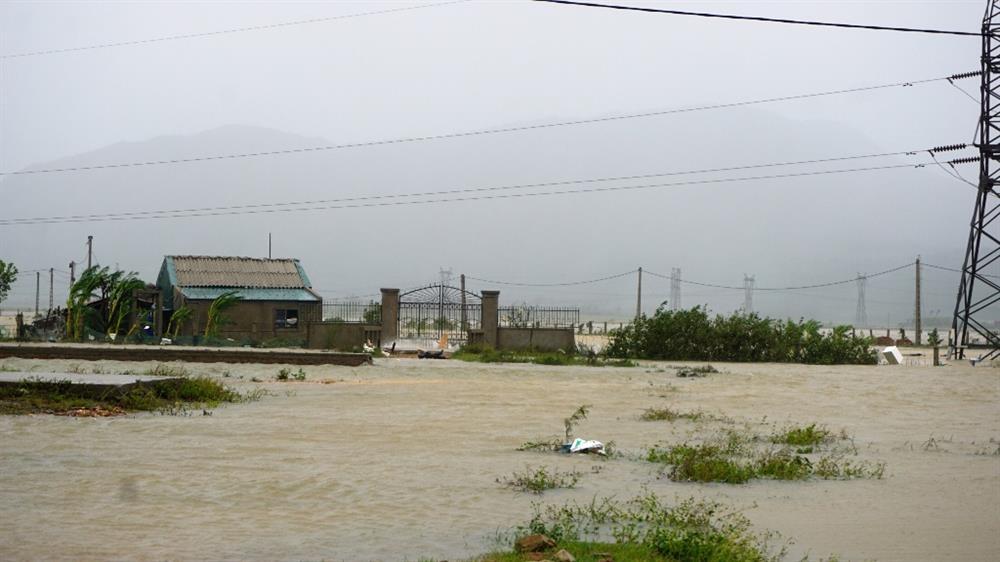Mưa lớn, gây ngập nặng ở nhiều nơi, trên 3.100ha diện tích nuôi trồng thủy sản, trong đó có hơn 2.000 ha nước ngọt và 1.100ha mặn lợ (800ha tôm và 300ha nhuyễn thể) bị ngập. Ảnh: QĐ