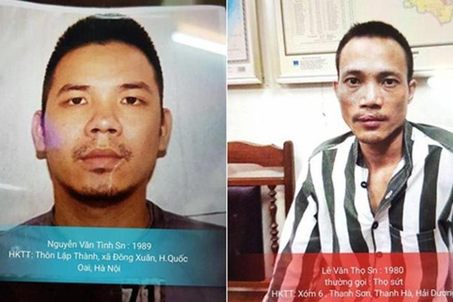Một trong hai tử tù đã bị Công an bắt giữ. Ảnh công an cung cấp