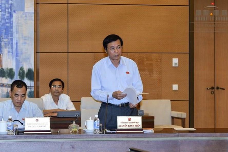 Tổng Thư ký Quốc hội Nguyễn Hạnh Phúc (Ảnh: QH)