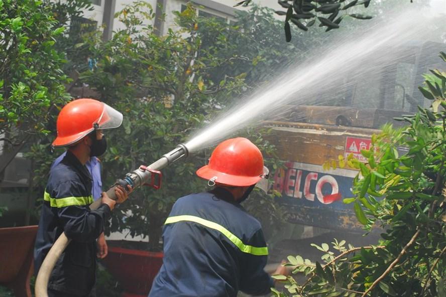 Hiện trường vụ cháy (ảnh: T.A)