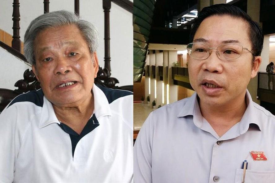 Ông Nguyễn Túc - Ủy viên Đoàn Chủ tịch Ủy ban Trung ương MTTQ Việt Nam (trái) và ông Lưu Bình Nhưỡng - Ủy viên thường trực Ủy ban Về các vấn đề xã hội của Quốc hội.