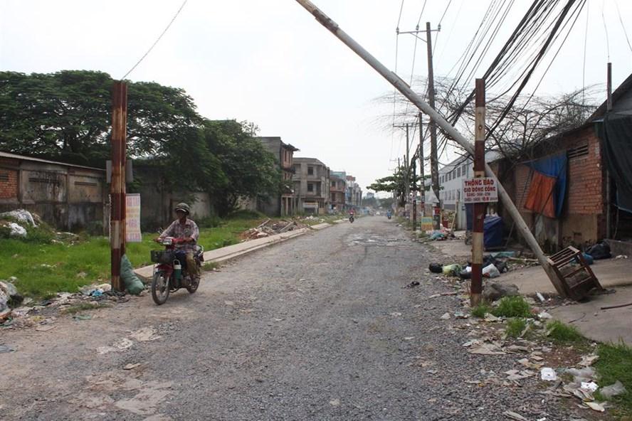 Đường Yết Kiêu nhếch nhác trong thành phố Biên Hòa