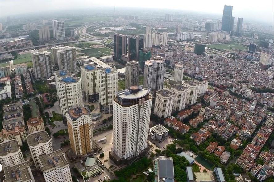 Khu đô thị quận Cầu Giấy (Hà Nội). Ảnh: PV