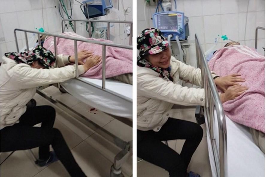 Người nhà bệnh nhân khóc thét khi phát hiện ra sự việc đau lòng.
