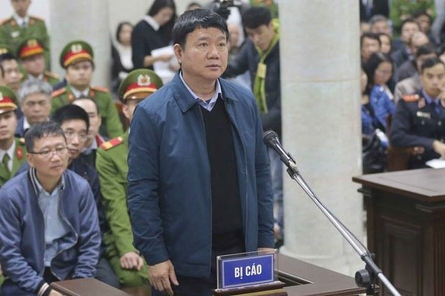 Ông Đinh La Thăng tại tòa. Ảnh TTXVN.