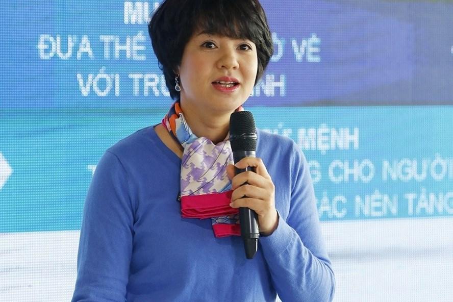 Nhà báo Diễm Quỳnh. Ảnh: Hải Hưng