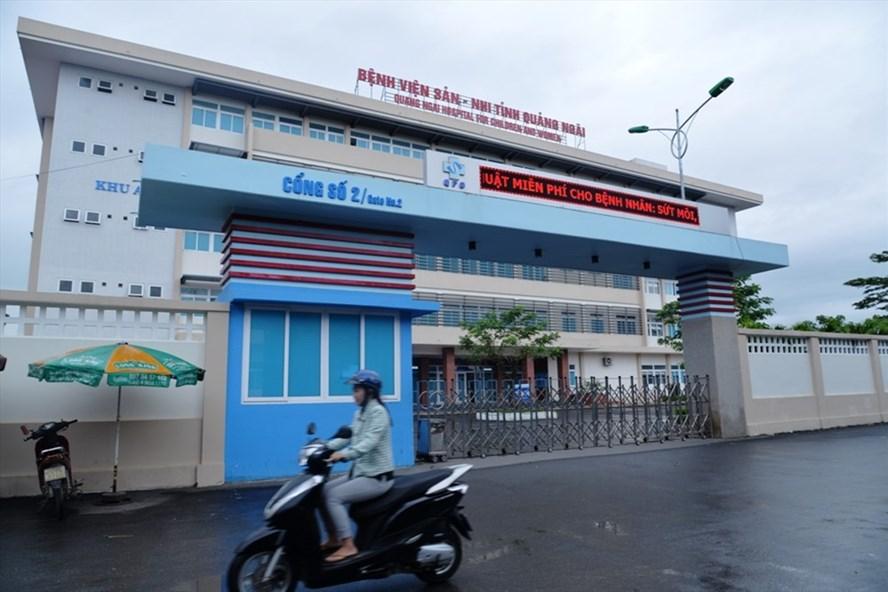 Bệnh viện sản nhi Quảng Ngãi - nơi xảy ra vụ việc đáng tiếc. Ảnh:T.H