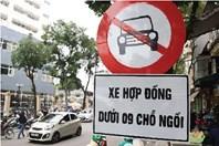 Infographic: Chi tiết các tuyến đường cấm xe hợp đồng dưới 9 chỗ ở Hà Nội