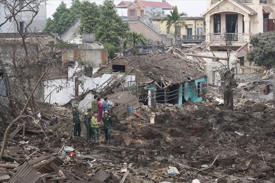 Hiện trường tan hoang sau vụ nổ kinh hoàng ở Bắc Ninh.