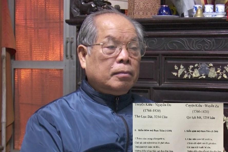 PGS-TS Bùi Hiền quyết định chuyển thể Truyện Kiều sang chữ cải tiến. Ảnh: P. V