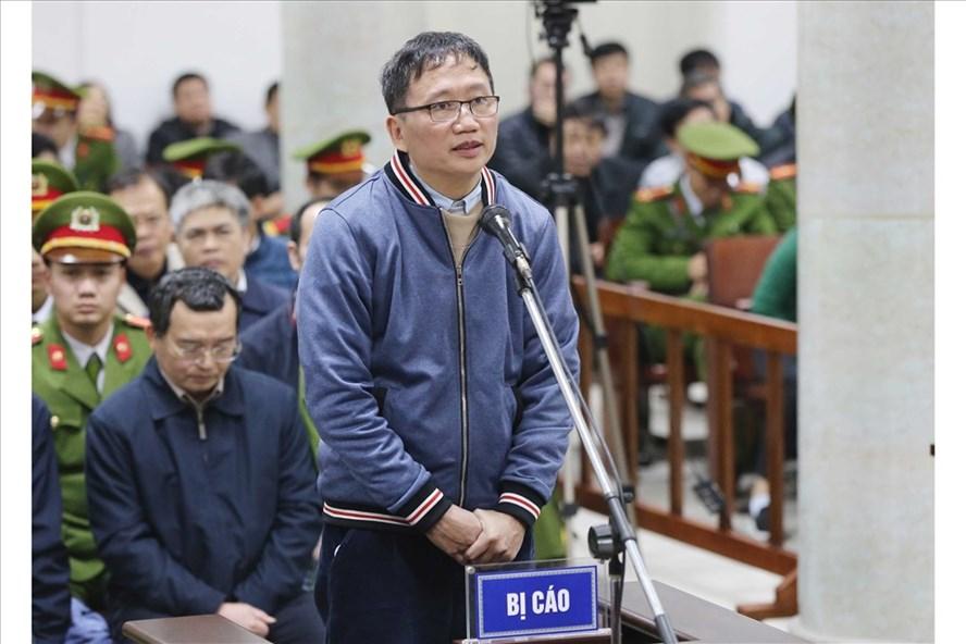 Ông Trịnh Xuân Thanh tại tòa. Ảnh: TTXVN