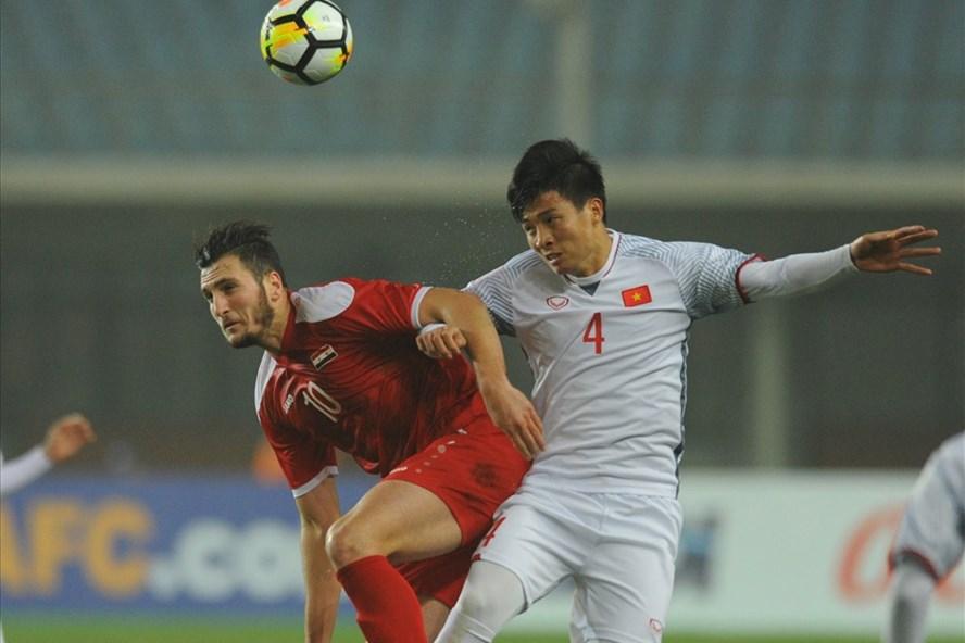 U23 Việt Nam đã chiến đấu quật cường trước Syria để làm nên kì tích cho bóng đá Việt Nam. Ảnh: M.T