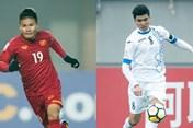 """Quang Hải, Xuân Trường """"đối đầu"""" tuyển thủ U23 Uzbekistan nào trong trận chung kết?"""