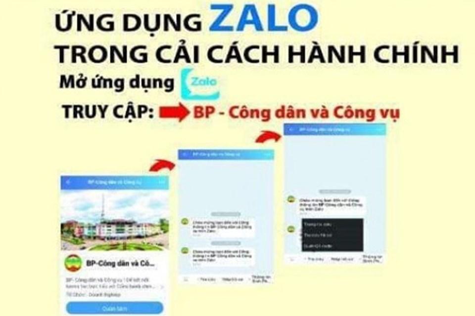Bình Phước triển khai dịch vụ hành chính công trên ứng dụng Zalo