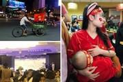 """Những hình ảnh có """"1 không 2"""" của CĐV trận Việt Nam-Philippines"""