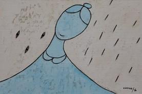 Những chùm mưa đậu trên lá thông