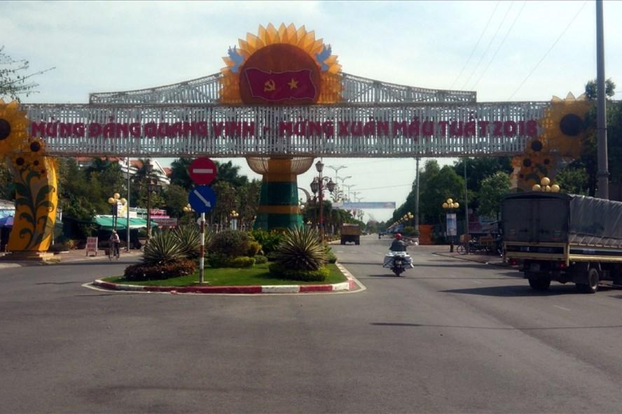 Thành phố Bạc Liêu đã trang hoàng đón năm mới (ảnh Nhật Hồ)