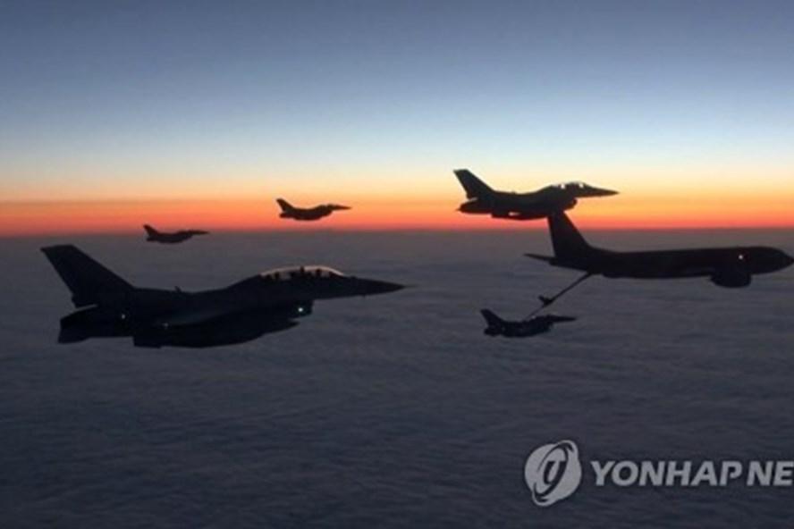 Chiến đấu cơ Mỹ-Hàn Quốc trong một cuộc tập trận chung. Ảnh: Yonhap.